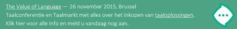 Op zoek naar taaloplossingen? Kom naar The Value of Language op 26 november in Brussel