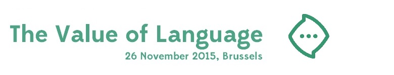 Alles over het aankopen van taal - The Value of Language II, 26 nov 2015 Brussel