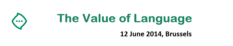 The Value of Language, 12 juni 2014 Brussel